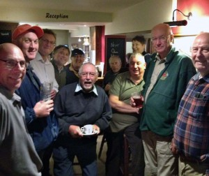 Enjoying a get together in the 'Old Court House' at Thrapston after the Fur and Feather match