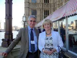 Peter Oldham and Joan Russell attending the 'Fishing for Forces' Luncheon at the House Of Lords